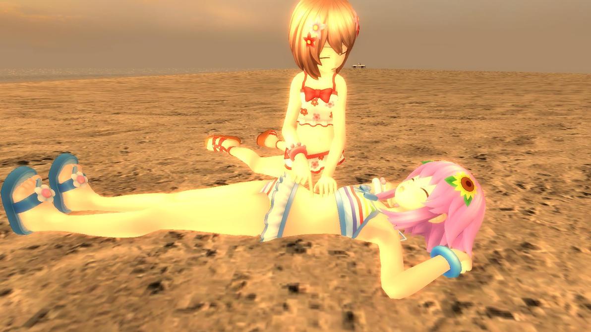 Blanc tickling Neptune by Soulmourn