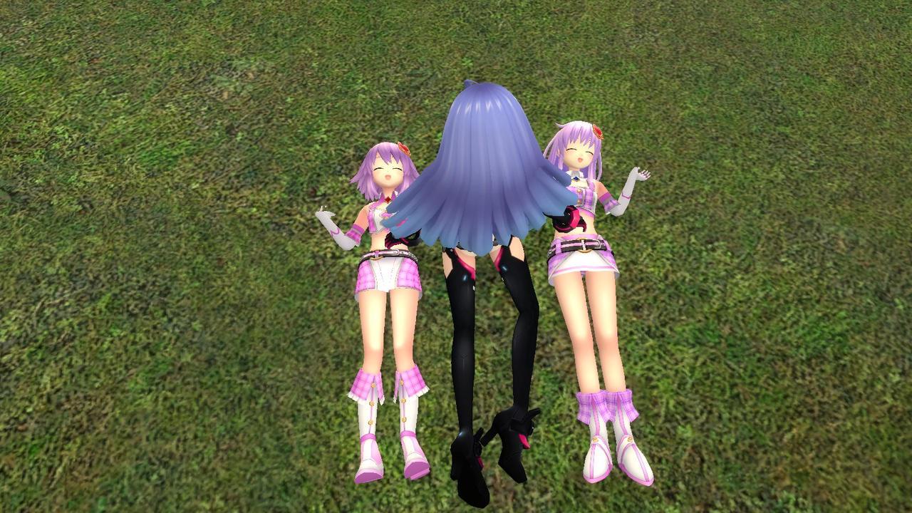 Iris Heart tickled Neptune and Nepgear by Soulmourn