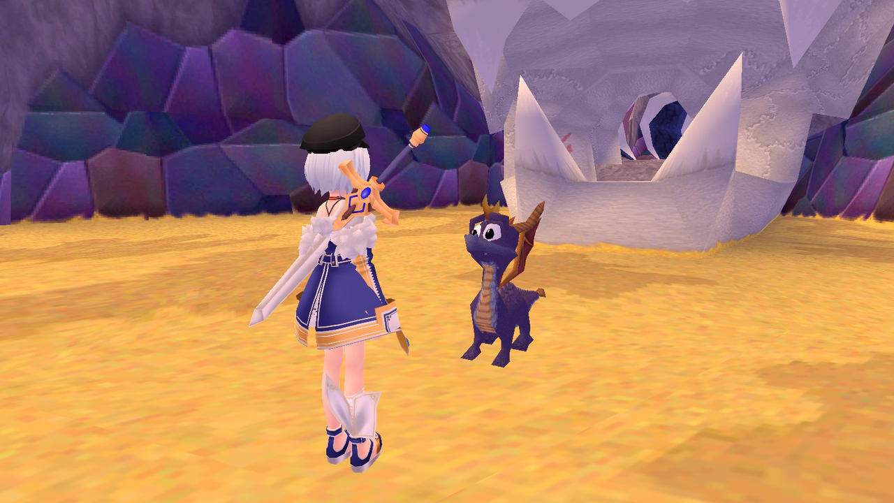 Sophie meet Spyro again by Soulmourn