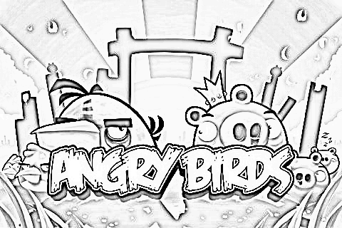 Angry Birds - Pencil Drawing by naspee