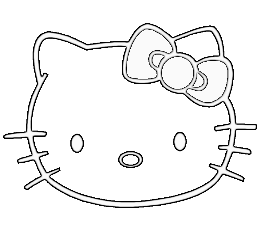 Hello Kitty Pencil Drawing