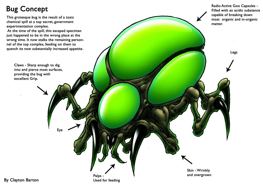 3D Bug - Final Concept by ClaytonBarton