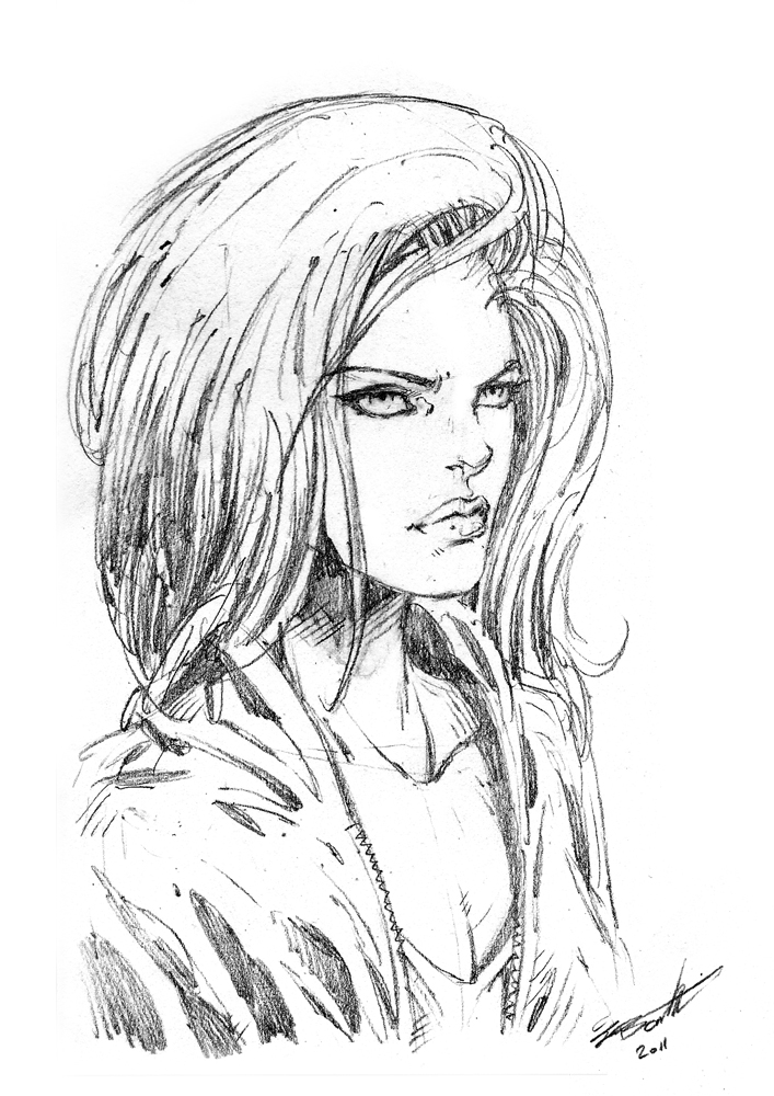 how to draw female faces comic book style