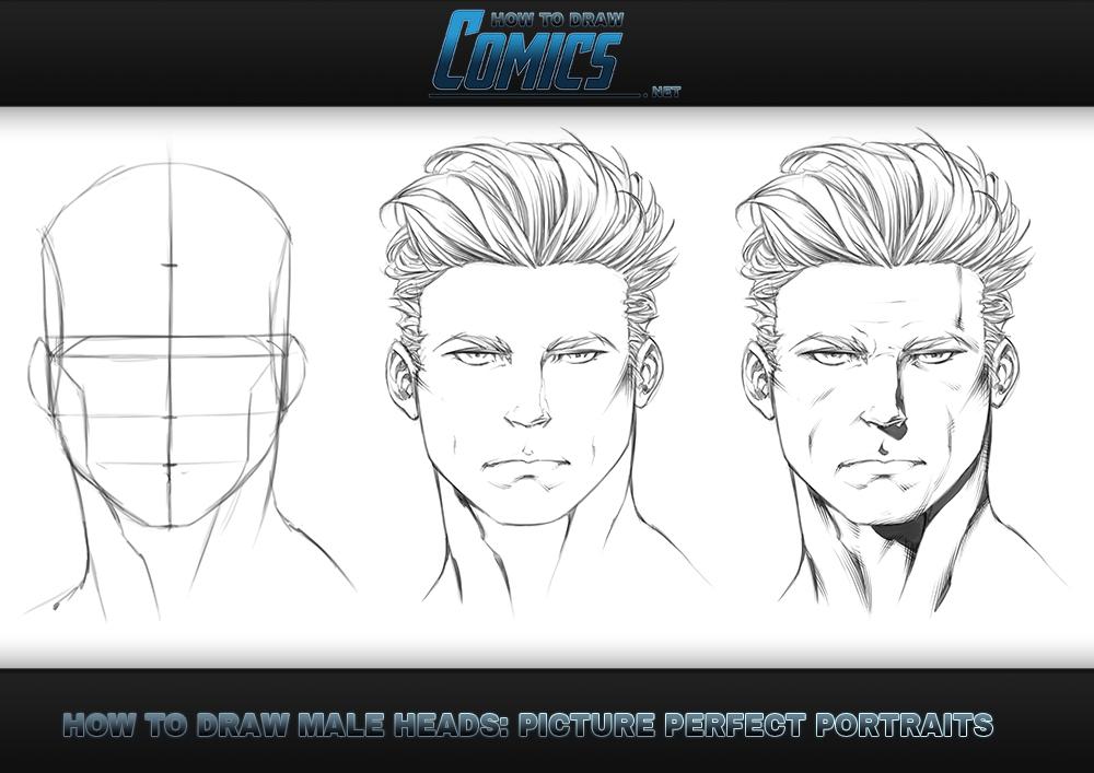 How To Draw Heads Male Portrait By Claytonbarton On Deviantart
