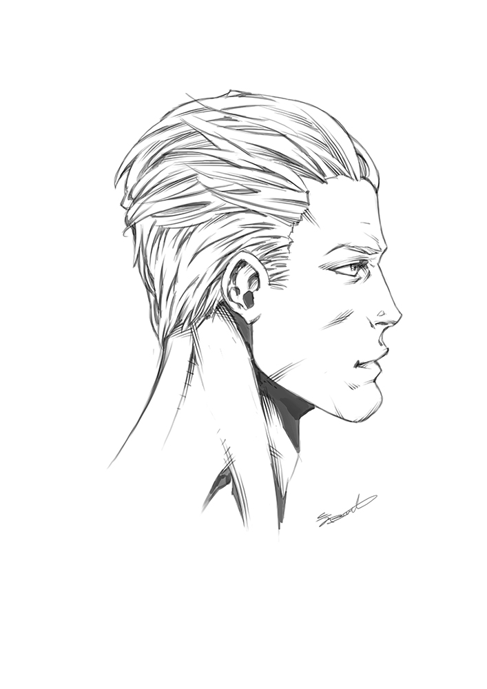 how to draw male heads picture perfect profiles by