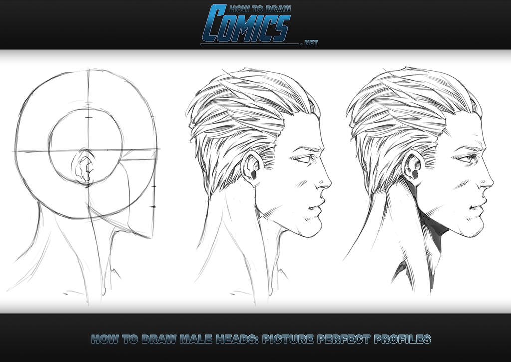 how to draw heads male profile by claytonbarton on deviantart