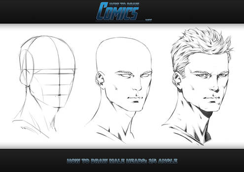 How to Draw Male Heads - 3 Quarter Angle