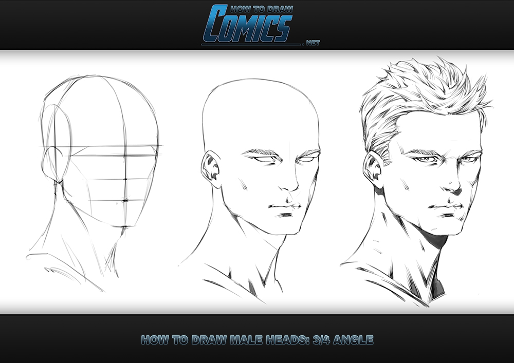 How to Draw Male Heads - 3 Quarter Angle by ClaytonBarton on DeviantArt