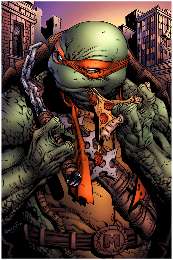 Image result for michelangelo ninja turtle comic