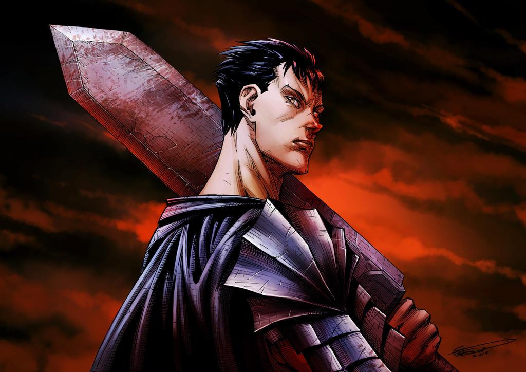 Berserk - Guts The Black Swordsman by ClaytonBarton