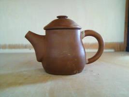 Tiny Red Clay Teapot