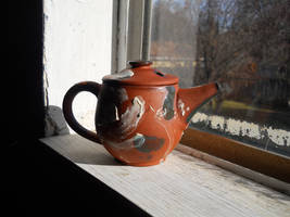 Navajo Teapot with Slip and Glaze