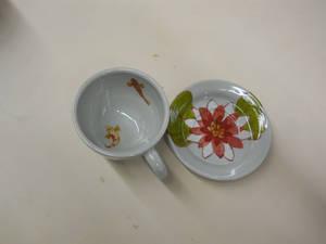 Koi Teacup and Saucer