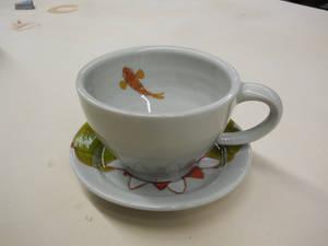 Koi Teacup and Saucer (together)