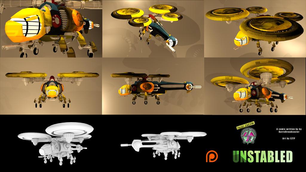 Enclave FB-05 Flutterbird Gunship by CraftyRebelBobdog
