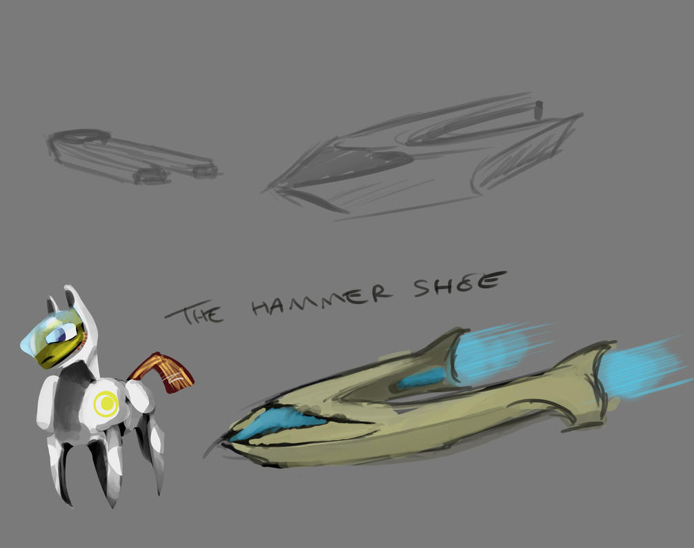 The Hammershoe by CraftyRebelBobdog