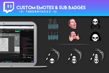 TheDeath333 - Custom Stream Emotes and Badges by siraco-creations
