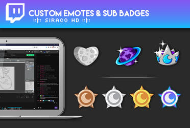 SiracoHD - Custom Stream Emotes and Badges by siraco-creations