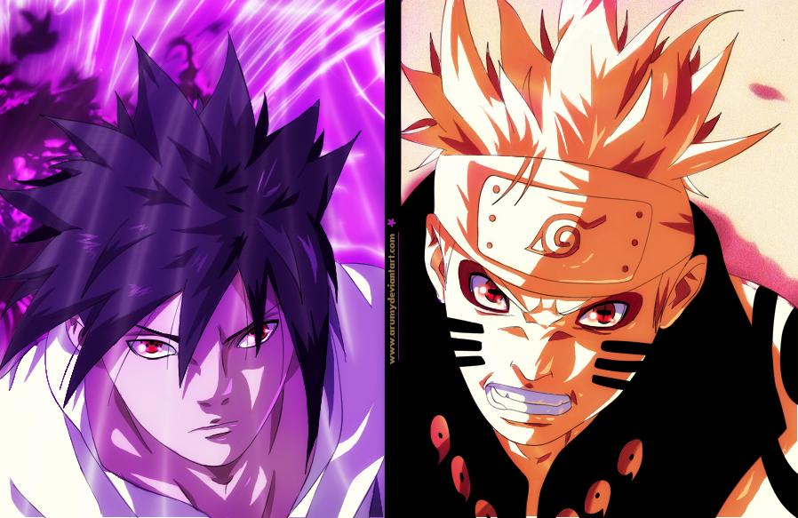 Naruto Manga (Sasuke And Naruto) Fight By Arumy On DeviantArt