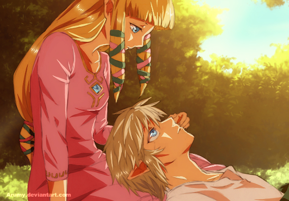Link And Zelda Relationship Romance in the air by ...