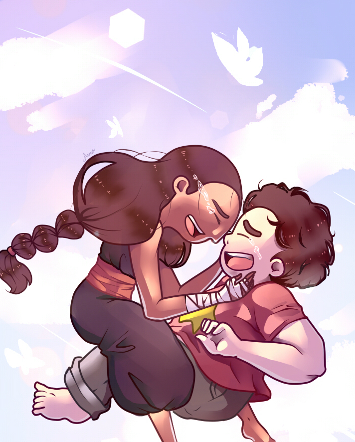 here comes thought-Connie and Steven by Arumy