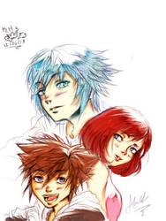 KH 3 the 3 heros by Arumy