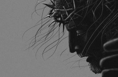 Crucified Jesus, the face