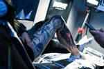 Leg Tattoo by yukan00