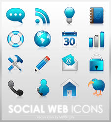 Social Web icons by MDGraphs