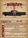 antikulture wanted flyer
