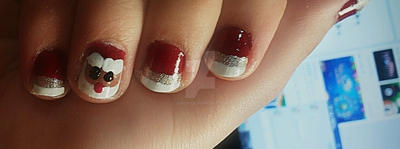 Christmas Nails(my Work) by jori95