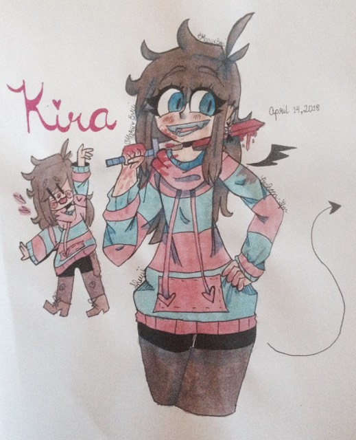 Kira !!Blood Warning!! by Pusheen-Tfm