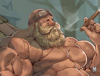 resting dwarf