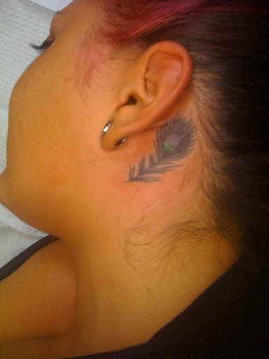Peacock Feather Tattoo Designs For Women Picture 2