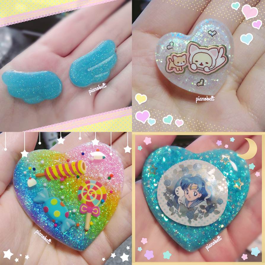 Resin Charms 4 by pianobelt0