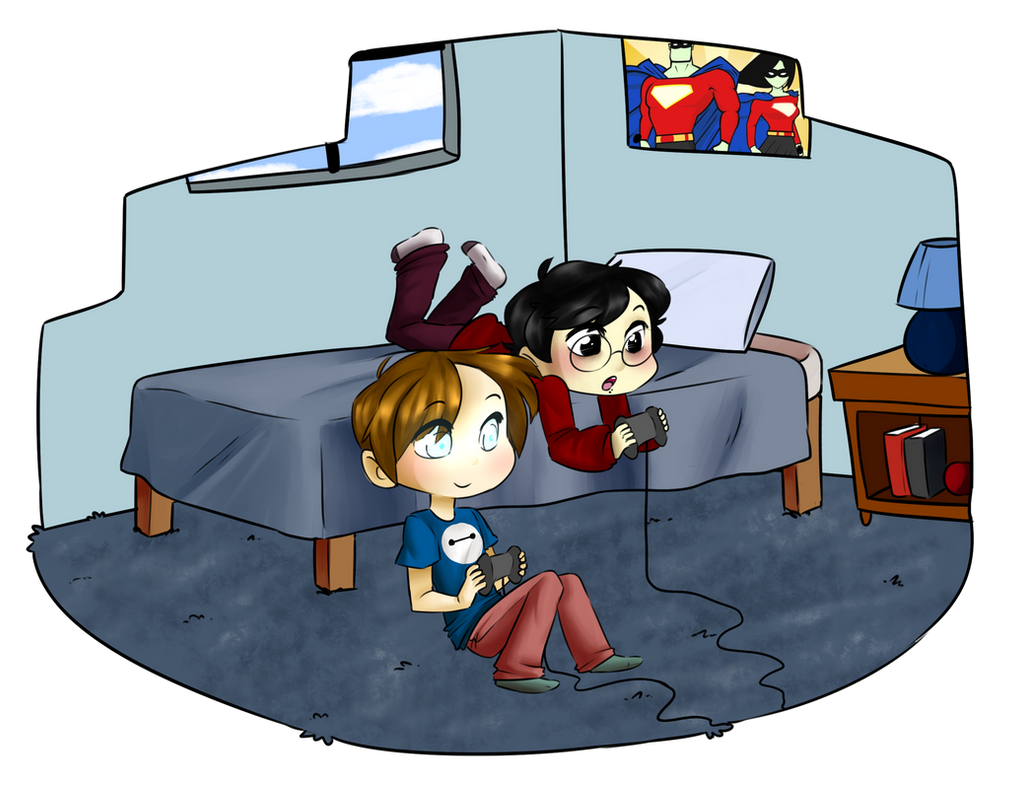 Collab: SUPER cute gaming boyfronds by pianobelt0