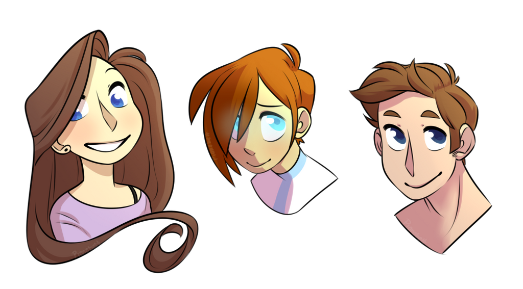 Brown Hair And Blue Eyes by pianobelt0