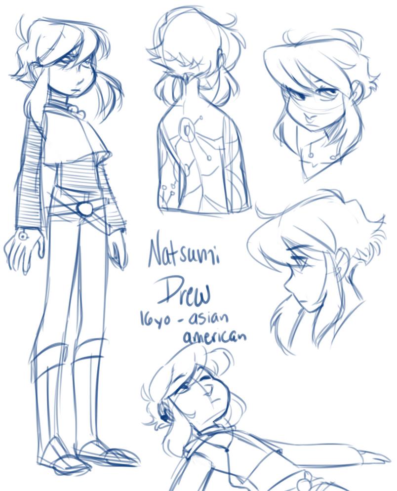 Natsumi Sketches by pianobelt0