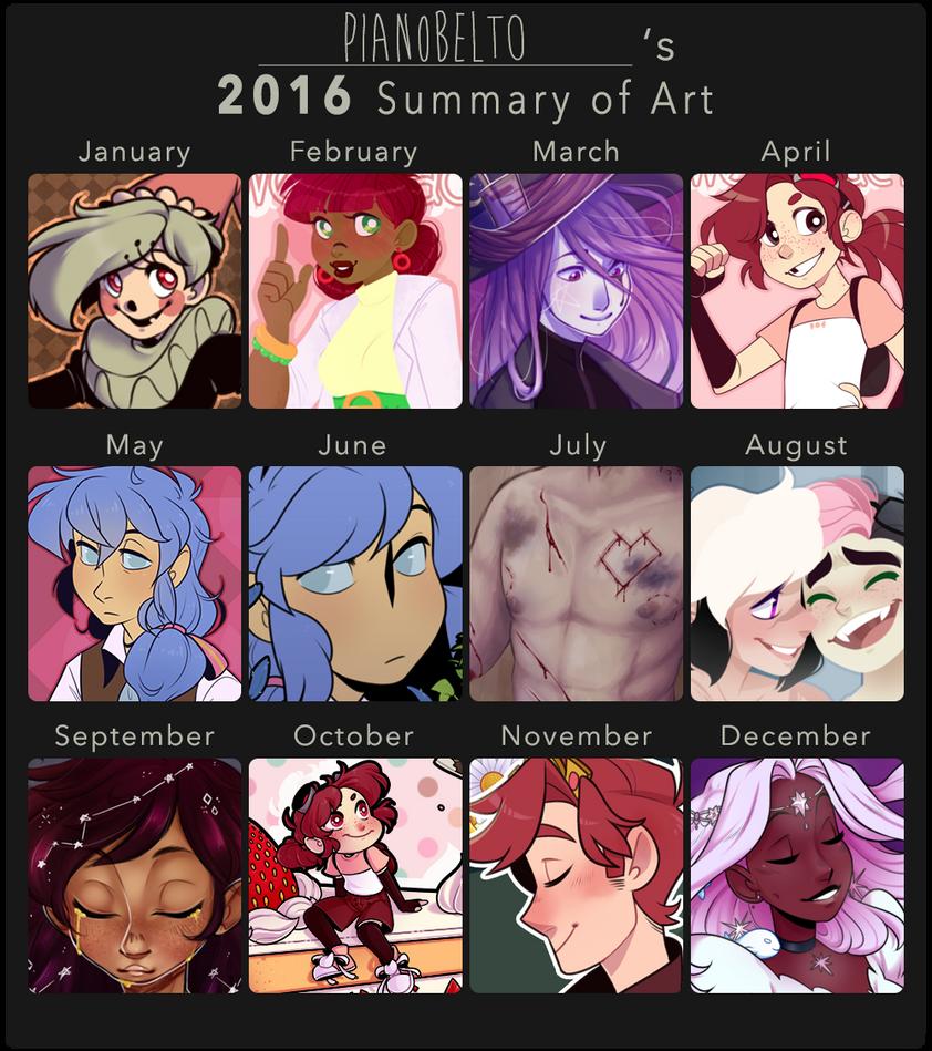 2016 Summary of Art by pianobelt0