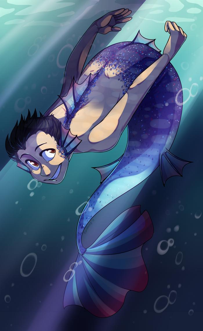 FF: Yuuri Mermaid by pianobelt0