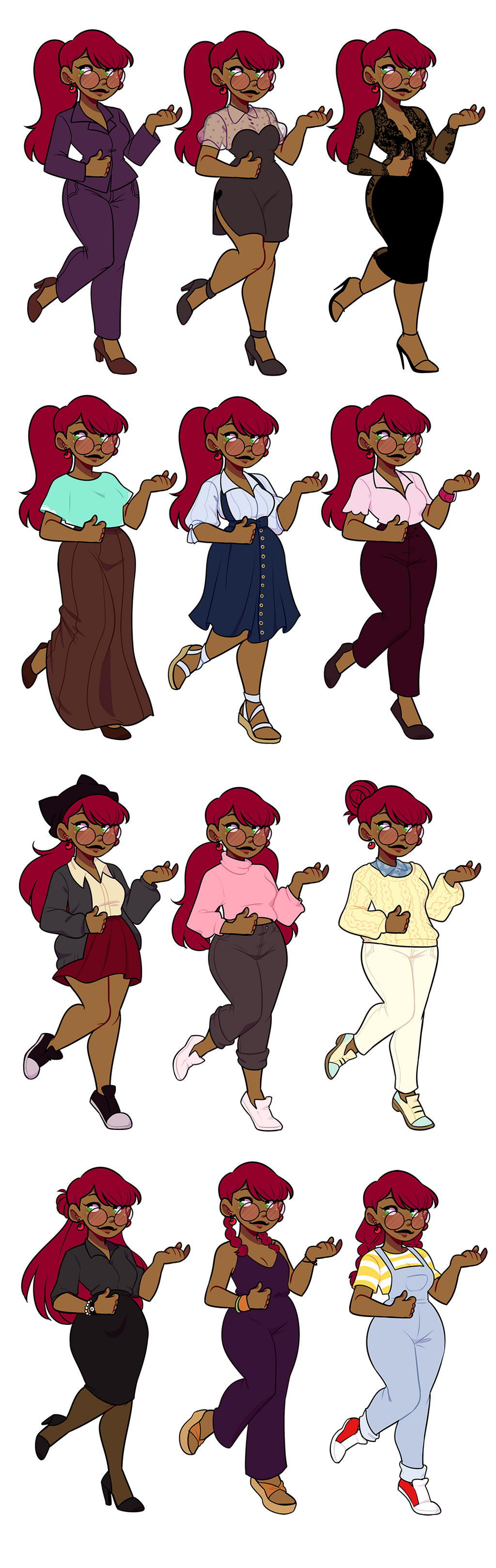 SF: Zoe's New Outfit Chart by pianobelt0