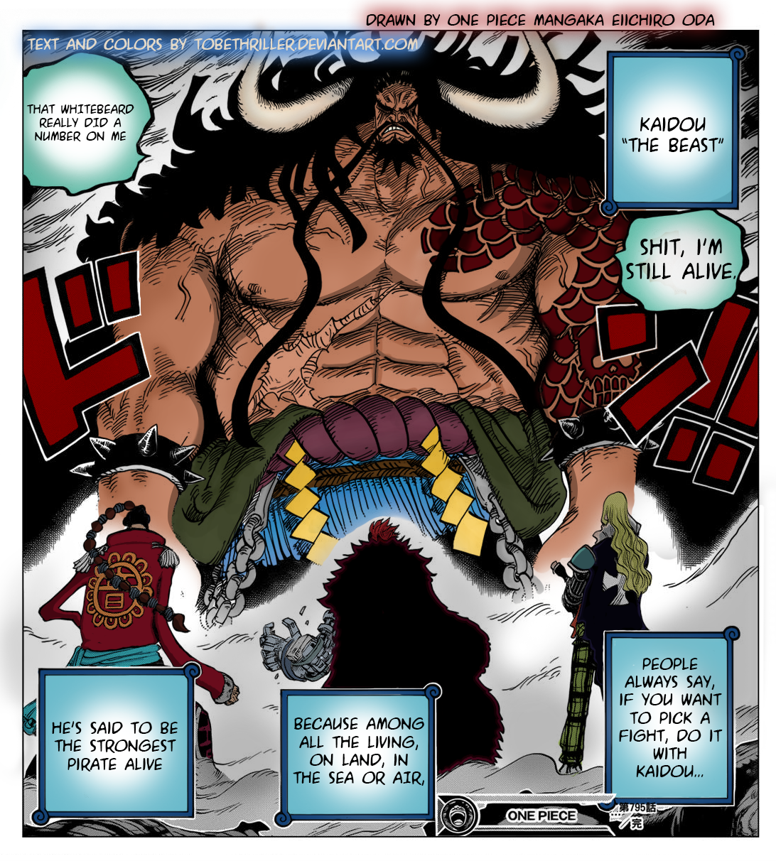 One Piece Kaido Colored Chapter 795 Cropped By