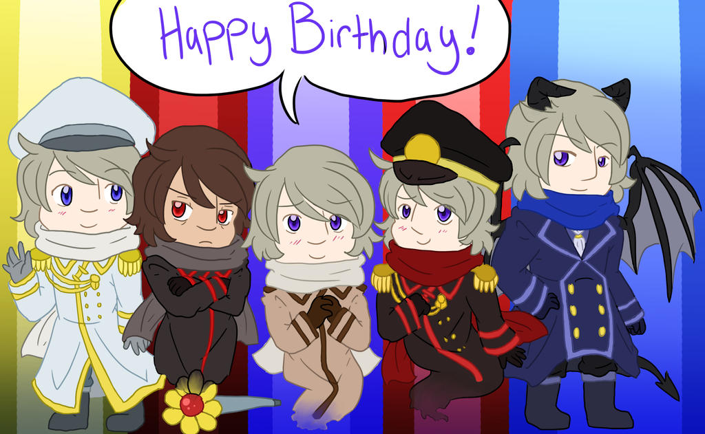 Birthday Gift for Comrades~! ( GIFT/COMISSION ) by Ask-Soviet-Russia