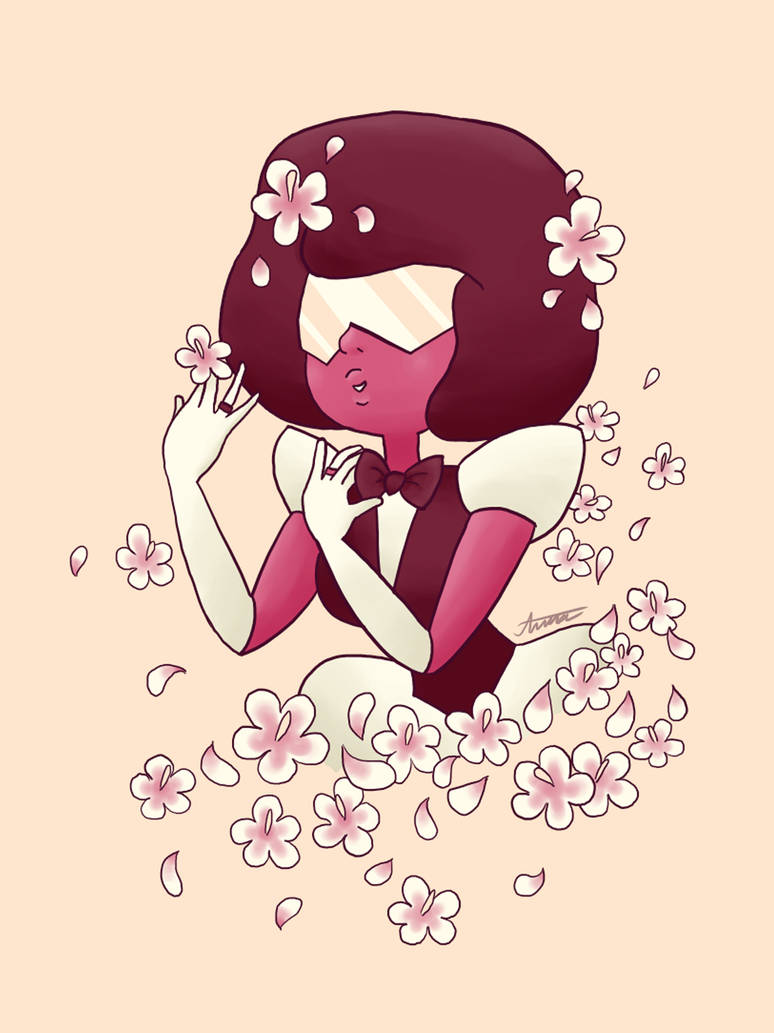 Wanted to try something challenging by drawing Garnet in her wedding attire in only 5 colors.