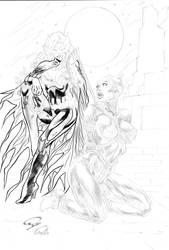 Bat-Girl vs Cat Woman by Robinker