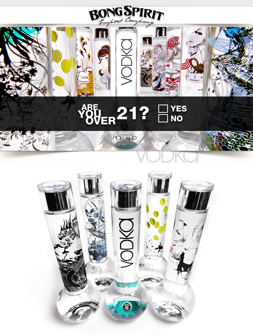 Bong Vodka Bottles I by Nyoun