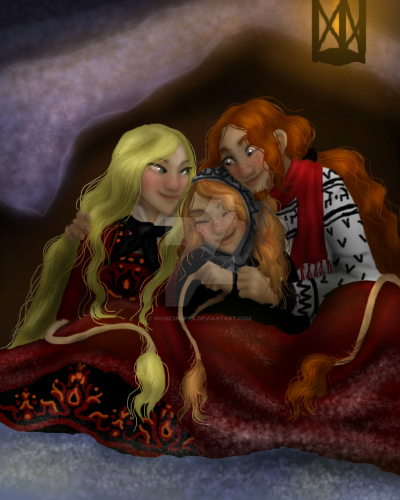 Hulder family by Niobesnuppa