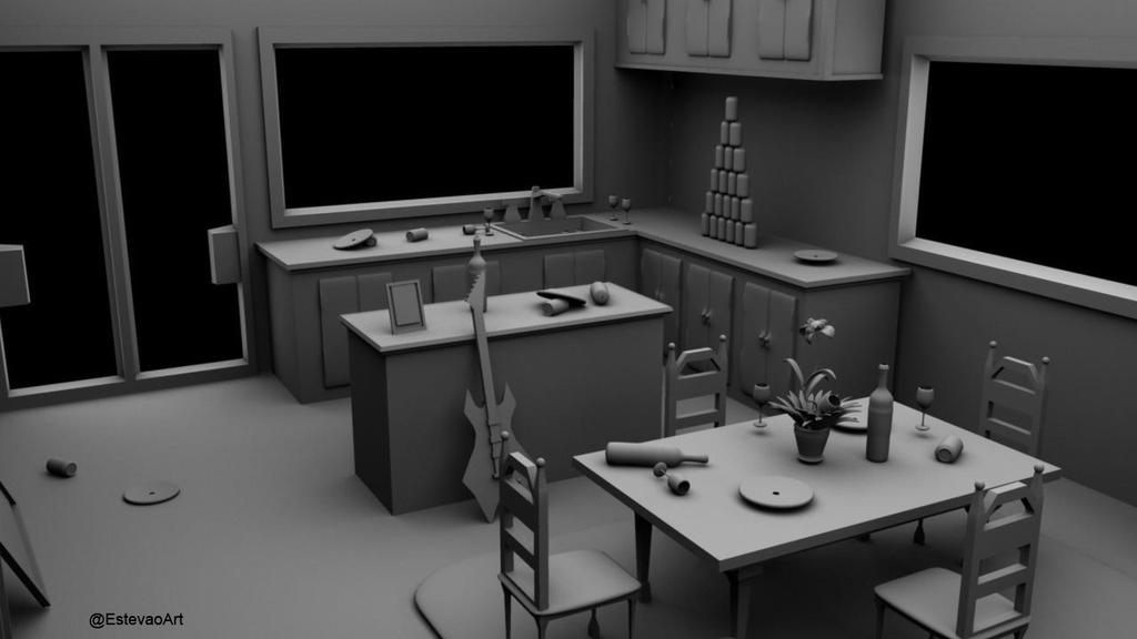 3d messy room maya part 5in 3d modeling work