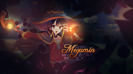 Megumin font by siffty-art