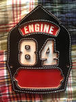 Chicago Fire Department Engine 84 helmet front by JamestheRedEngine91